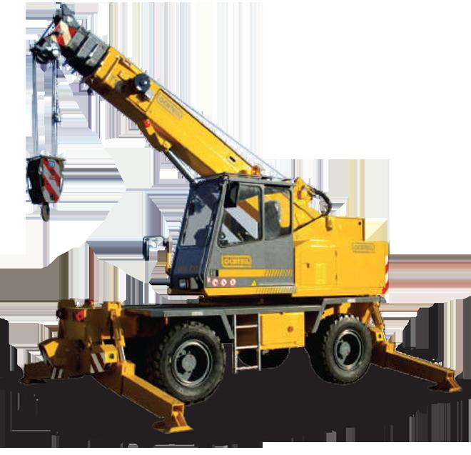 Rough terrain cranes producer - Locatelli Crane
